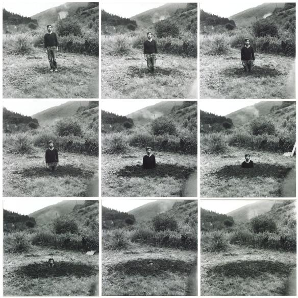Self-Burial (Television Interference Project) 1969 by Keith Arnatt 1930-2008
